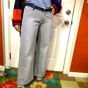 Vintage y2k no boundaries wide leg stripe jeans 11